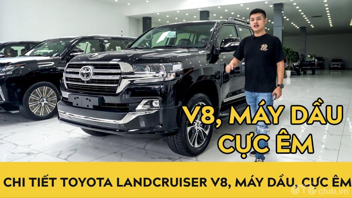 Chi tiết Toyota Land Cruiser 2020 V8 máy dầu cực êm