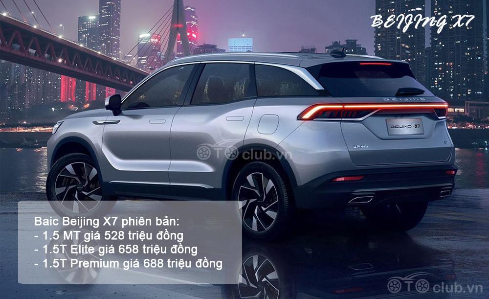 Baic Beijing X7 cạnh tranh Honda CR-V tại Việt Nam