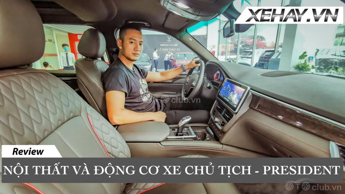 Vinfast President V8 - Nội thất và Động cơ xe CHỦ TỊCH