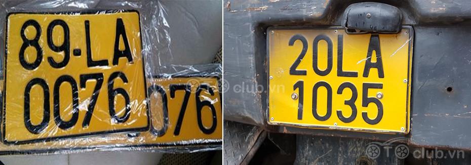 Xe ô tô kinh doanh vận tải sẽ dùng biển số màu vàng